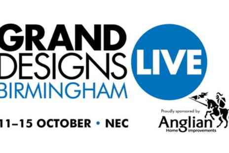 Grand Designs Live Birmingham - Standard Ticket to Grand Designs Live on Wednesday 11 to Sunday 15 October - Save 58%