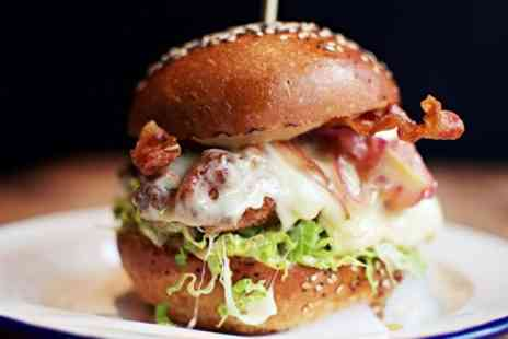 Fancy Funkin Chicken - Choice of Burger with Fries and a Soft Drink for One or Two - Save 46%