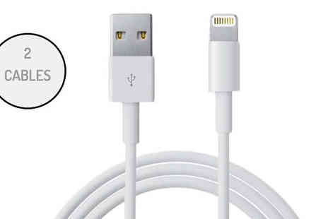 Gorgeous Selection - 2 x Apple Lightning Compatible USB Data Cables - Save 53%