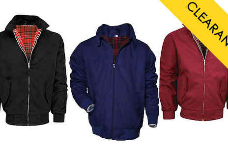 Hawt Online - Mens Lightweight Harrington Jacket in 3 Colours - Save 61%