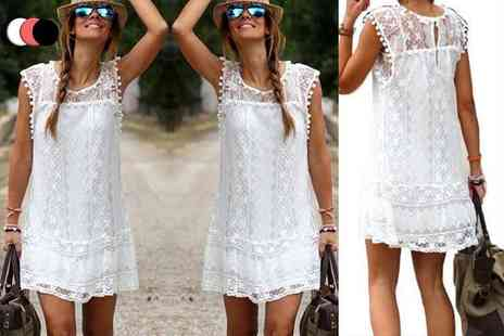 Boni Caro - Lace summer dress choose from three colours - Save 80%