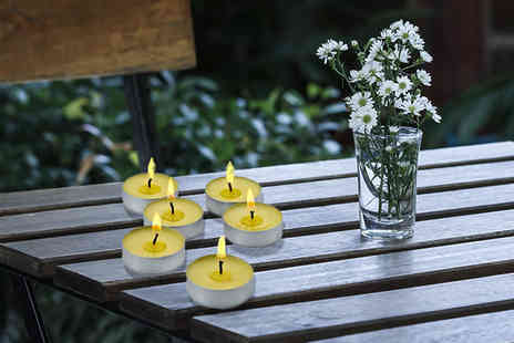 A2B Shopping - Set of citronella tea light candles Plus Delivery Included - Save 64%