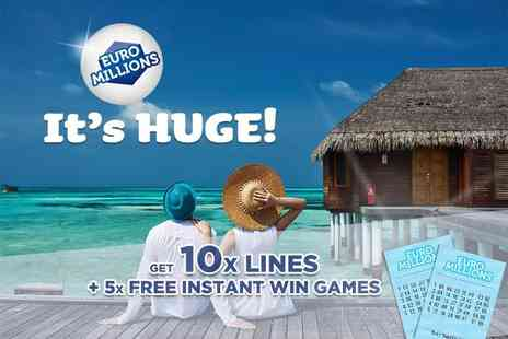 Hatchster - 10 syndicated EuroMillions Lottery lines plus five instant win games with chances - Save 50%