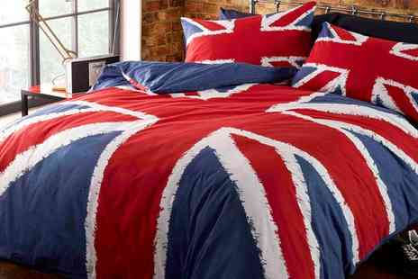 Groupon Goods Global GmbH - Rule Britannia Duvet Set - Save 63%