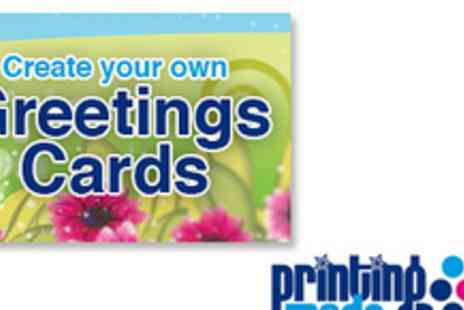 Printing Made Easy - 5 Individually Personalised Greeting Cards & Envelopes With Free Delivery - Save 52%