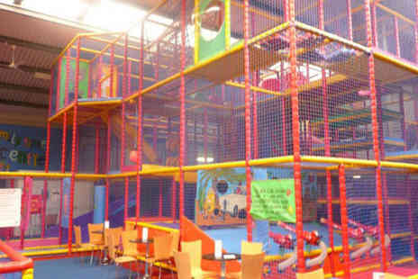 Jellybeans Play Centre - Soft play entry for two children with a drink each - Save 50%
