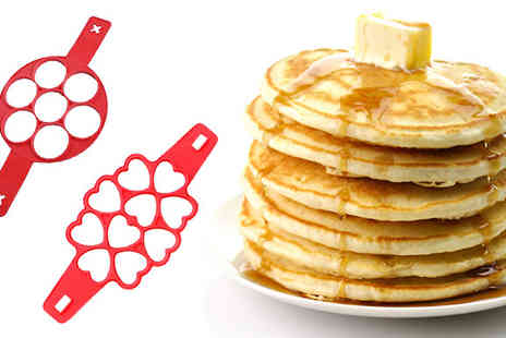 eFindbest - Non Stick Silicone Pancake Mold in 2 Designs - Save 64%