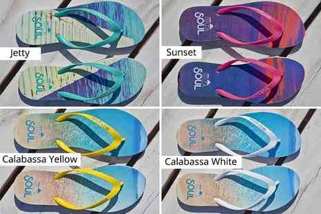 Ibizia Soul - Pair of Ibiza Soul flip flops select from mens and womens - Save 64%