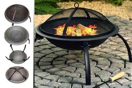 Sashtime - Portable fire pit use it as a patio heater, BBQ or camp fire - Save 55%