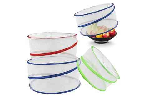 Groupon Goods Global GmbH - One or Two Sets of Three Collapsible Pop Up Food Covers - Save 64%