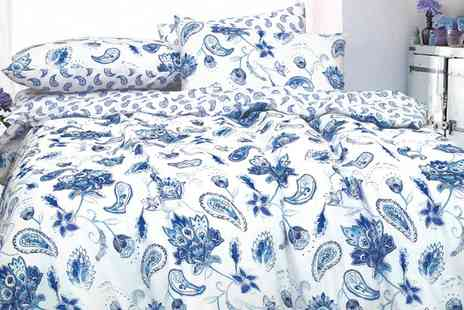 Groupon Goods Global GmbH - Painted Paisley Duvet Cover Set in Choice of Colour - Save 71%