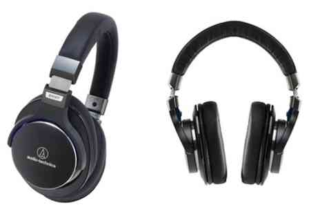 Groupon Goods Global GmbH - Audio Technica ATH MSR7 Full-Size Headphones With Free Delivery - Save 0%