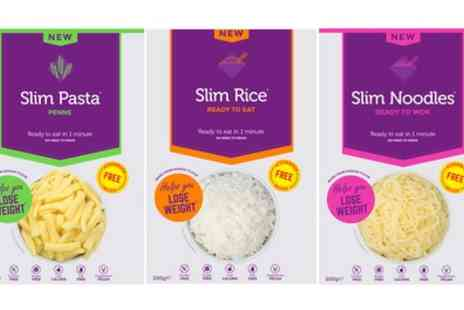 Groupon Goods Global GmbH - 25 Pack 200g Konjac Slim Pasta, Noodles or Rice - Save 61%