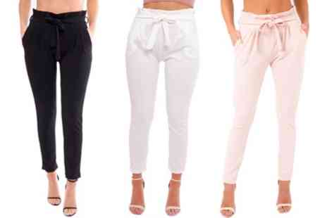 Groupon Goods Global GmbH - Womens Skinny Cigarette Style Trousers - Save 0%