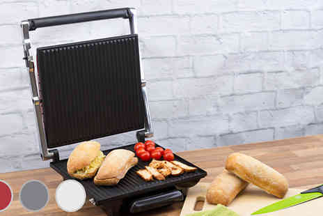 Dihl - Four Slice Jumbo Sandwich Panini Grill Three Colours - Save 57%