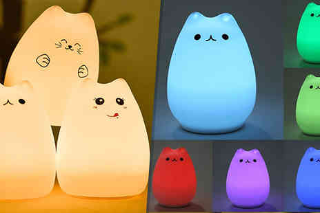 Black Sheep - Colour Changing Kitten Night Light Three Styles - Save 48%