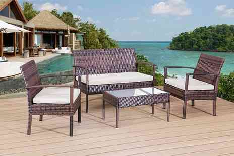 Rattan Trends - A large four piece sofa lounge set - Save 75%