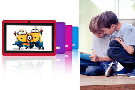 D2D - Kids 7 inch tablet choose from four colours - Save 61%