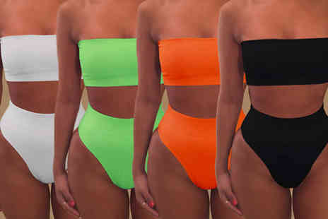 Trifolium Lingerie - A strapless high waisted bikini set choose from eleven colours - Save 77%