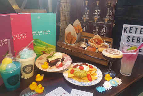 Revolution Bar - American themed afternoon tea with a Frappuccino and cocktail each for two people - Save 59%