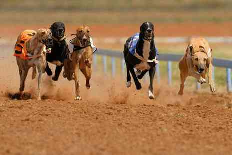 Swindon Greyhound - Greyhound race entry with a race card, burger and drink each for two - Save 74%