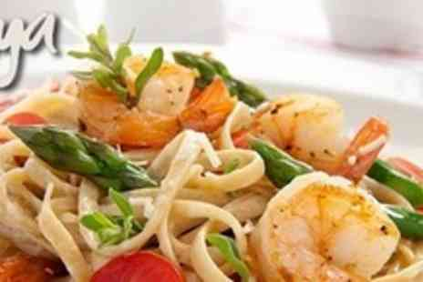 Joya - Two Course Italian Meal For Two With Focaccia Bread Each - Save 58%