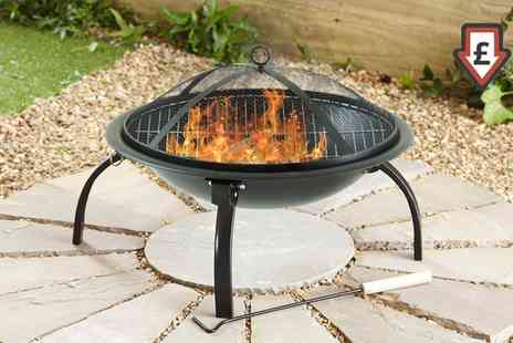 Groupon Goods Global GmbH - Large Folding Fire Pit with Free Carry Case and Option of Marshmallow Roasting Essentials - Save 94%