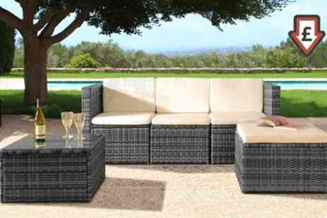 Groupon Goods Global GmbH - Mustique Rattan Effect Sofa Set with Optional Full Protective Cover - Save 56%
