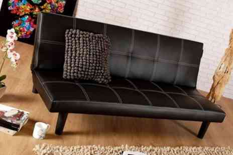 Groupon Goods Global GmbH - Inline Three Seater Sofa Bed in Choice of Colour With Free Delivery - Save 68%