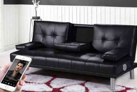 Groupon Goods Global GmbH - Manhattan Sofa Bed or Sofa Bed with Bluetooth Stereo Speakers With Free Delivery - Save 44%