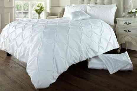 Groupon Goods Global GmbH - Soft Touch Pin Tuck Duvet Set - Save 50%