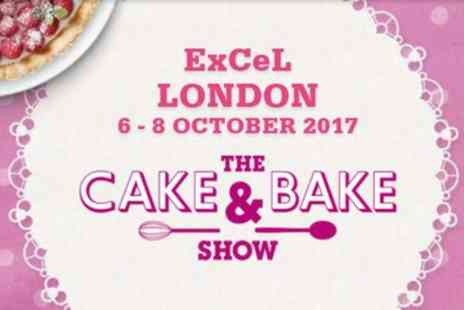 The Cake & Bake Show - One or two day tickets to The Cake & Bake Show on 6 To 8 October - Save 46%