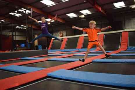 Jump Division - One Hour Trampoline Jump Session for Up to Four - Save 37%