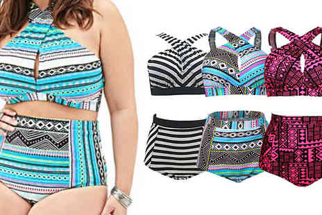 Bazaar me - High Waist Swimwear Three Colours - Save 87%
