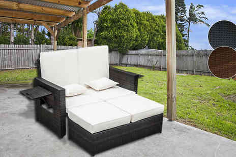 MHSTAR - Two Seater Rattan Day Bed Two Colours - Save 54%