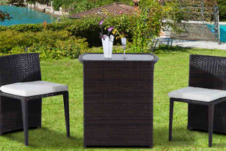 MHSTAR - Three Piece Rattan Furniture Set - Save 73%