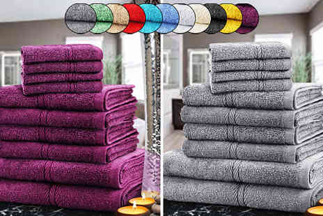 Fusion - 10 or 20 Piece Egyptian Cotton Towel Set 12 Colours - Save 83%
