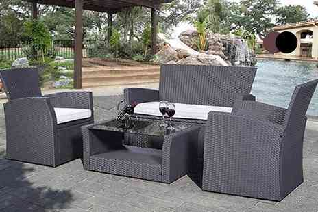 FDS Corporation - Four piece garden furniture set choose from three colour - Save 52%