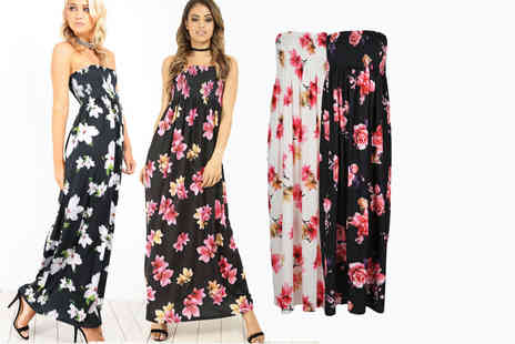Be Jealous - Strapless bandeau floral maxi dress - Save 63%