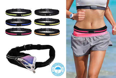 ViVo Technologies - Double pocket sports belt select from six colours - Save 78%