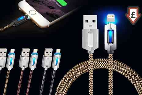Groupon Goods Global GmbH - 1m AQ Light Up Charge and Sync Lightning Or Micro USB Cables - Save 74%