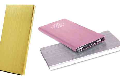 Groupon Goods Global GmbH - One or Two Aluminium Power Banks 12000mAH in Choice of Colour - Save 53%