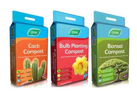 Groupon Goods Global GmbH - One, Two or Three 10L Packs of Bonsai, Bulb Planting or Cacti Compost - Save 56%
