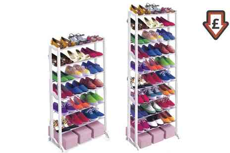 Groupon Goods Global GmbH - One or Two Seven or Ten Tier Shoe Racks - Save 76%