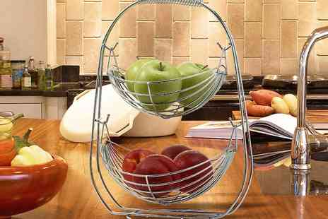 Groupon Goods Global GmbH - Two or Three Tier Chrome Fruit Hammock - Save 0%