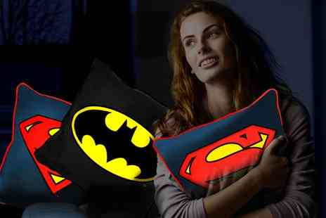 Groupon Goods Global GmbH - Batman or Superman Glow Cushion or Both - Save 60%