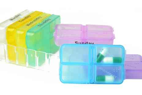 Groupon Goods Global GmbH - One or Two Seven Day Pill Mini Box Tablet Holders - Save 1%