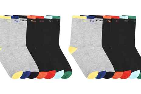 Groupon Goods Global GmbH - Seven or Fourteen Pairs of Monday to Sunday Mens Socks - Save 0%
