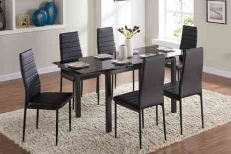 Groupon Goods Global GmbH - Grange Extending Dining Table With Six Chairs Include Free Delivery - Save 0%