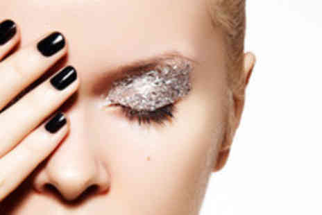 Joy Hair & Beauty - Mini manicure or pedicure with RockStar glitter finish - Save 64%